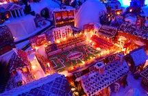 Insane gingrerbread city inside Bergen!