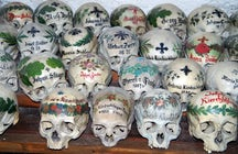 Painted Skulls in Hallstatt's Charnel House