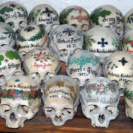 Painted Skulls in Hallstatt's Charnel House