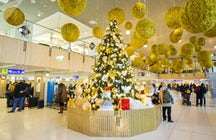 New Year's festivities & decoration in Chisinau airport