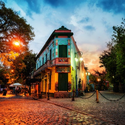 Kosmopolitische Atmosphäre in La Boca, Buenos Aires