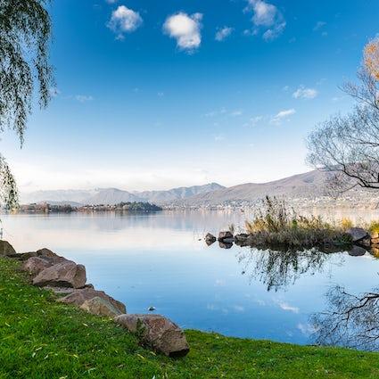 Em torno do lago Varese de bicicleta