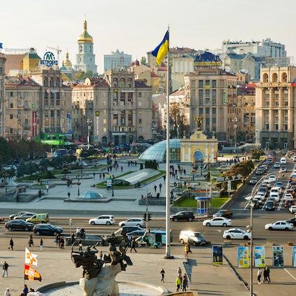 Maidan Nezalezhnosti Square, the heart and soul of  Ukraine