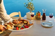 Taste seafood on the coast of the Khazar