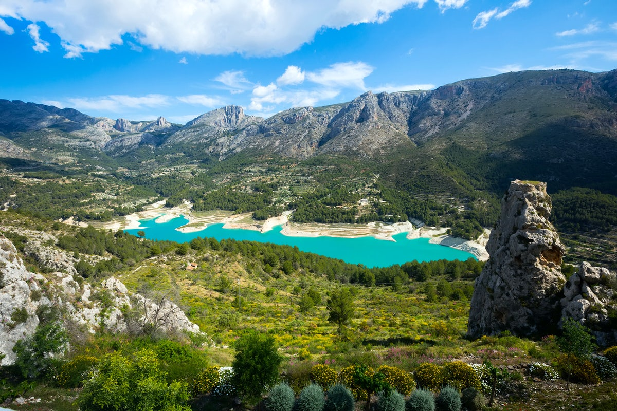 Guadalest Castle in the Community of Valencia