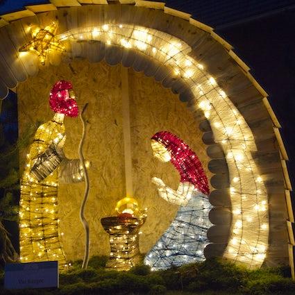 The magic of Christmas lights in Vojnik
