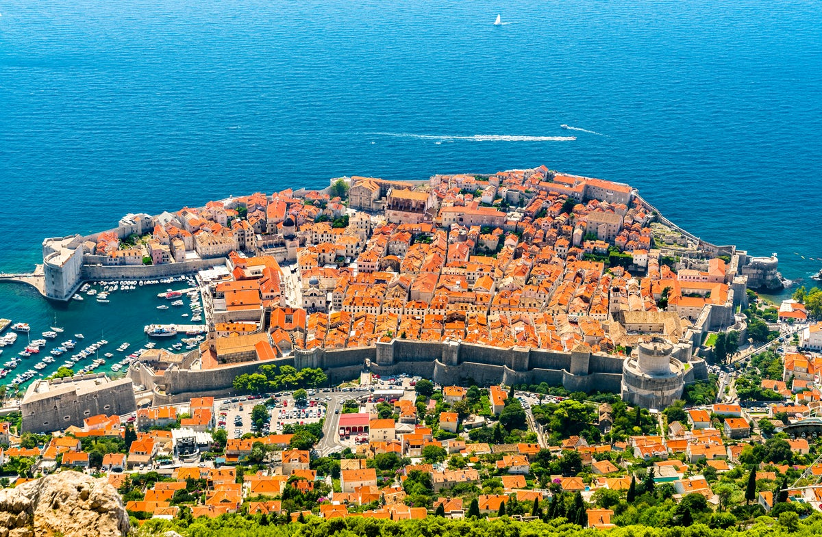 Unconquered wall of Dubrovnik and Minčeta tower