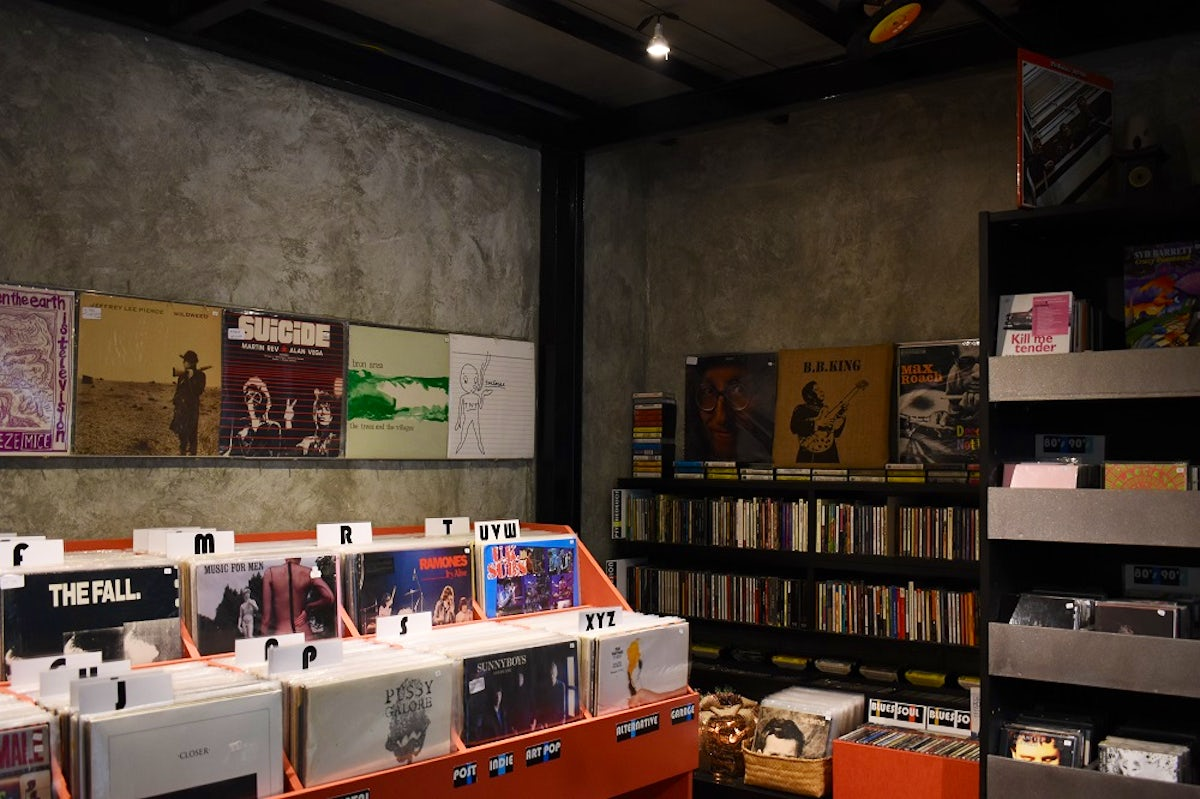 Old school records in Exarchia, Athens