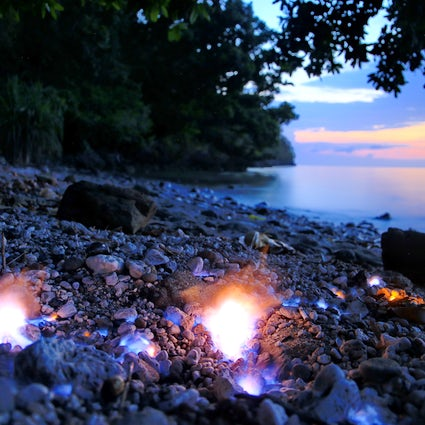 Eternal fire on the beach: Tanjung Api, Sulawesi