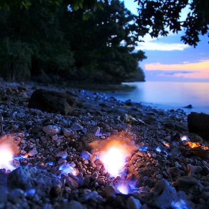 Eternal fire on the beach: Tanjung Api, Sulawesi