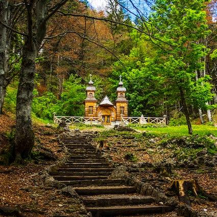 The Russian Chapel, a symbol of peace on the Vršič Pass