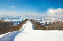 A snow resort combined with a traditional onsen experience, Nagano