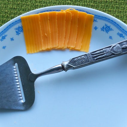 Norwegian invention: cheese slicer (ostehøvel)