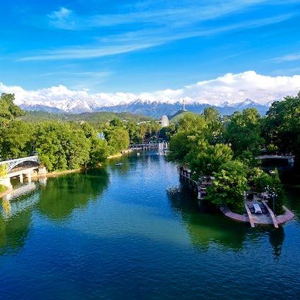 Le Parc central Gorky à Almaty, un favori des locaux
