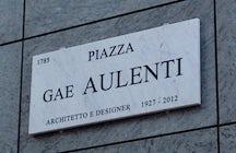La plaza de ciencia ficción de Milán, Gae Aulenti