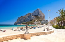 Rocks and beaches in Calpe, Costa Blanca