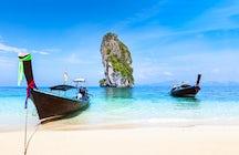 Mar, arena y karst: Playa Phra Nang, Krabi