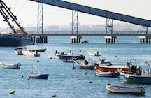 De Trafaria à Porto Brandão - ville et campagne au bord du fleuve