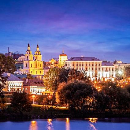Salto de bar en la Ciudad Alta de Minsk