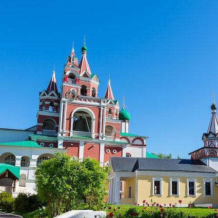 Savvino-Storozhevsky Klooster in Zvenigorod, een plaats van koninklijke pelgrimstochten.